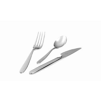 Conjunto de Talheres Hercules para Café da Manhã e Sobremesa com 03 Peças - Inox