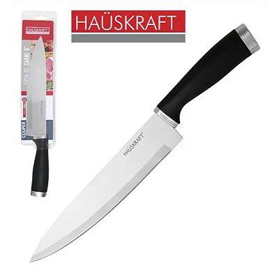 """Faca de Carne e Peixeira Lâmina Inox 8"""" - Couper 32,3 cm - Cabo Preto - Hauskraf"""