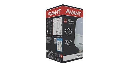 Lâmpada de Led Bulbo E27 30W 6500K - Branco Frio - Avant
