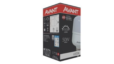 Lâmpada de Led Bulbo E27 50W 6500K - Branco Frio - Avant