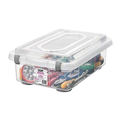 Caixa Organizadora com Tampa de Plástico Sanremo 8,6L 40x27x13,3cm - Incolor