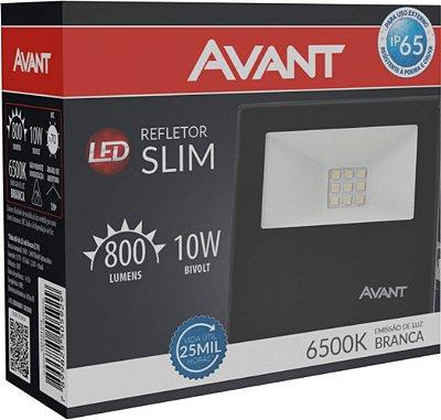 Refletor de Led Avant Slim 10W 6500K - Branco