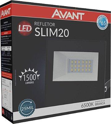 Refletor de Led Avant Slim 20W 6500K  - Branco