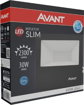 Refletor de Led Avant Slim 30W 6500K - Branco