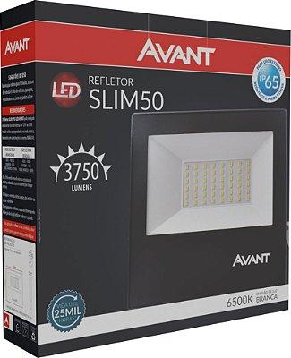 Refletor de Led Avant Slim 50W 6500K - Branco