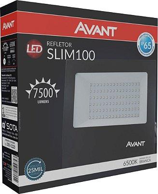 Refletor de Led Avant Slim 100W 6500K - Branco