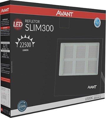 Refletor de Led Avant Slim 300W 6500K - Branco
