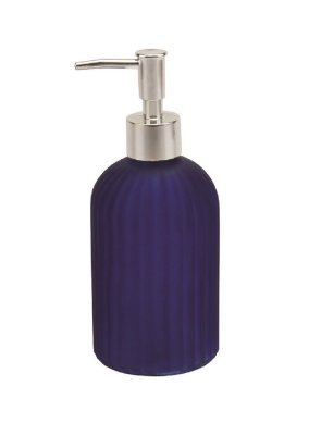 Porta Sabonete Liquido de Vidro 400ml 19cm - Azul - Hauskraft