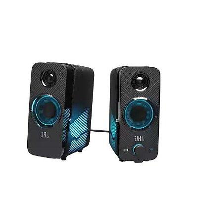 Caixa de Som Gamer JBL Quantum Duo Som Surround Dolby Digital Bluetooth 4.2 20RMS - Preto