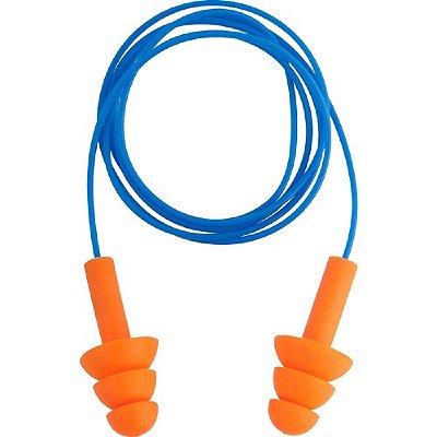 Protetor Auditivo Tipo Plug de Silicone com Cordão em PVC Vonder CA11023 - Azul e Laranja