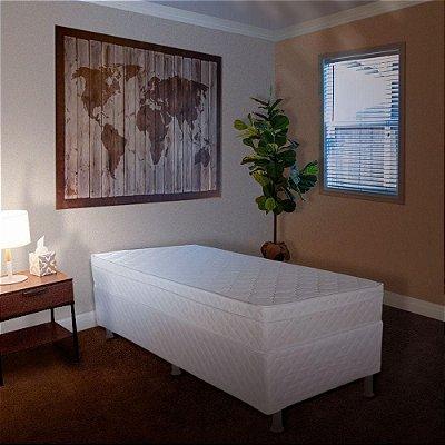 Cama Box + Colchão de Solteiro Sonoflet Pollo D45 188x88cm - Branco Gelo