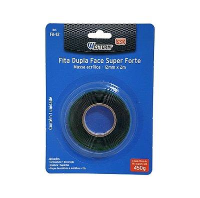 Fita Dupla Face Forte Western FA12 12x2MM - Verde