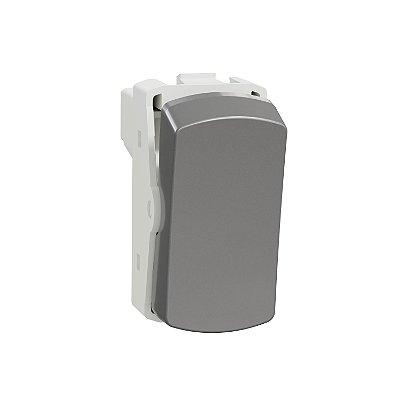 Módulo Interruptor Simples Alumínio 10AX 250V Miluz - S3B72012 - Schneider Electric
