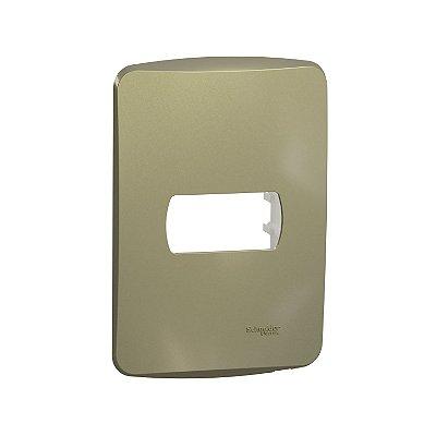 Placa 4X2 1 Posto com Suporte Dourado Miluz - S3B77113 - Schneider Electric