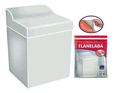 Capa para Máquina de Lavar Flanelada Lisa - Cinza - Plast Leo