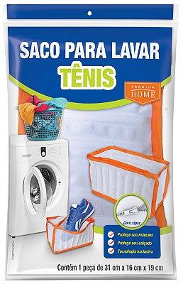 Saco para Lavar Tênis Plast Leo com Fecho 31X16X19cm - Branco