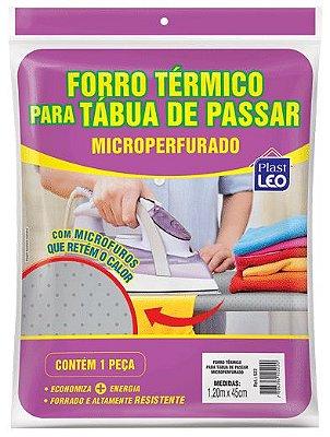 Forro Térmico para Tábua de Passar Ajustável Microperfurado 0,45x1,20m - Branco - Plast Leo