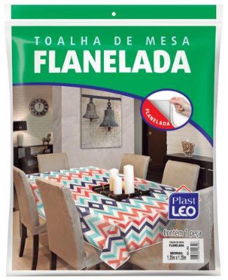 Toalha de Mesa Plástica Flanelada 1,35 x 2,20 Metros - Plast Leo