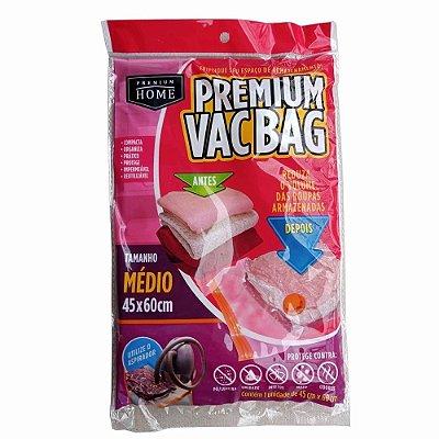 Saco à Vácuo Premium Vacbag Organizador Tamanho M 45x60cm - Incolor - Plast Leo