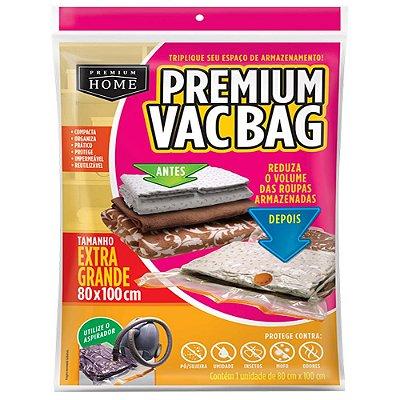 Saco à Vácuo Premium Vacbag Organizador Tamanho XG 80x100cm - Incolor - Plast Leo