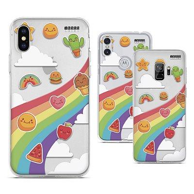 Capinha Frutas e arco íris