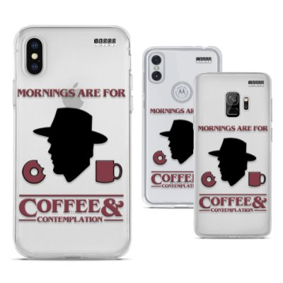Capinha Stranger Things - Mornings are for Coffee and Contemplation