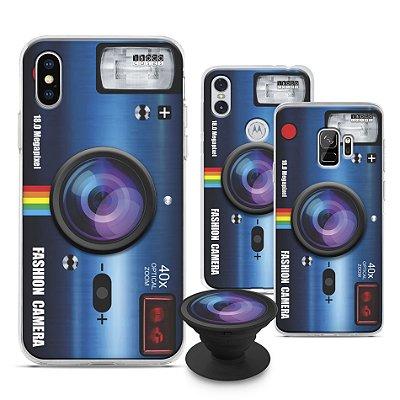 Capinha iPOP - Fashion Camera Azul