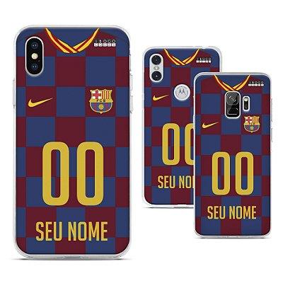Capinha - Camisa 1 Barcelona - Personalizada Nome e Numero