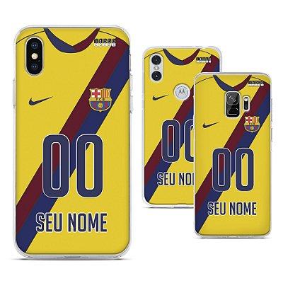 Capinha - Camisa 2 Barcelona - Personalizada Nome e Numero