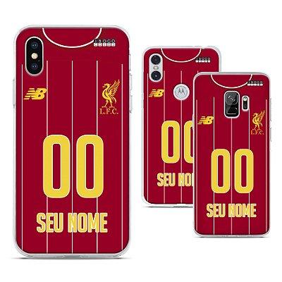 Capinha - Camisa Liverpool - Personalizada Nome e Numero