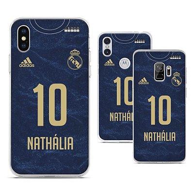 Capinha - Camisa Real Madrid 2 - Personalizada Nome e Numero