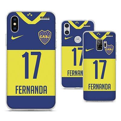 Capinha - Camisa Boca Juniors - Personalizada Nome e Numero