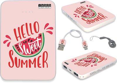 carregador portatil personalizado hello sweet summer