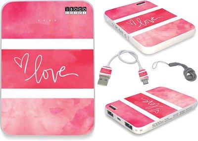 Carregador Portátil - Powerbank Personalizado Love