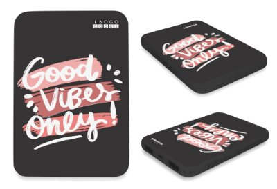 CARREGADOR PORTÁTIL 10.000mAh (POWERBANK)  - GOOD VIBES ONLY