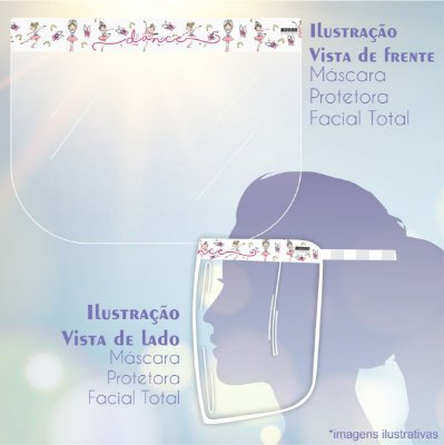 Máscara de Proteção Facial Total - Bailarina Dance