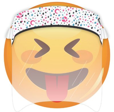 Máscara de Proteção Facial Total - Estrelas