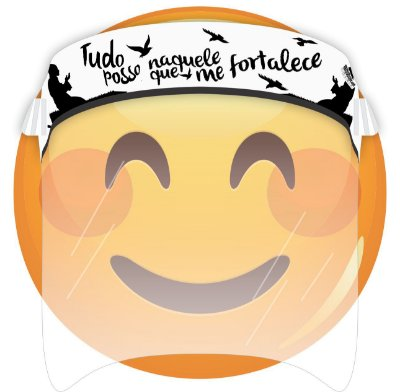 Máscara de Proteção Facial Total - Tudo Posso Naquele que me Fortalece
