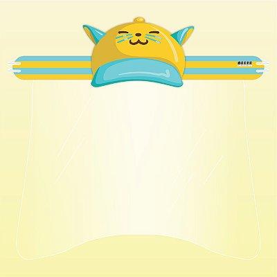 Máscara Protetor Facial Total - Boné Gatinho Amarelo