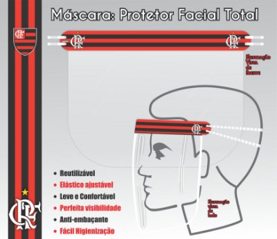 Máscara de Proteção Facial Total - FLAMENGO 05