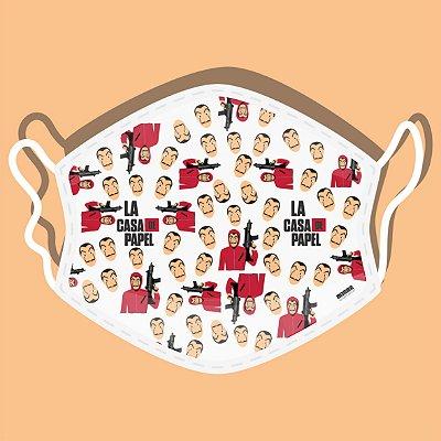 Máscara de Proteção Tecido Duplo - La Casa de Papel