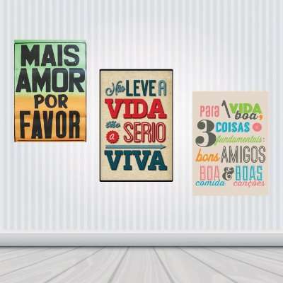 Placas Decorativas : Frases