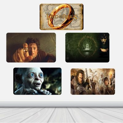 5 Placas Decorativas - Filmes