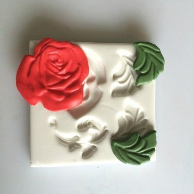 Molde Rosa com Arabesco 0122