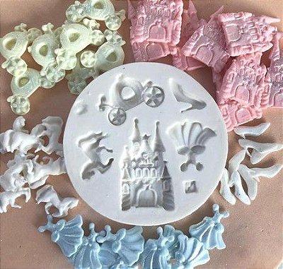 Molde Mini peças das princesas 0293