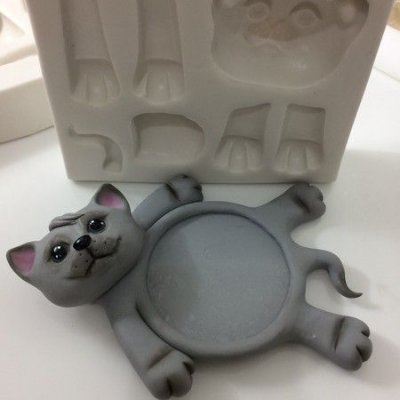 Molde porta caneca de gatinho 0341