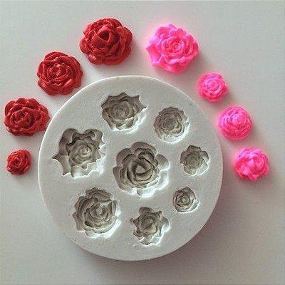 Molde 8 Rosas 0444