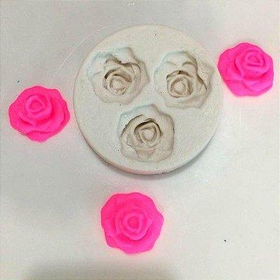 Molde três rosas doces 0456