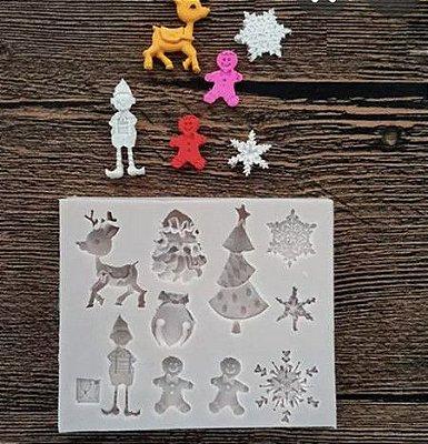 Molde Miniaturas Natal Imp 493