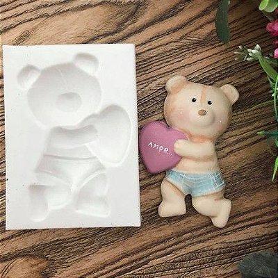 Molde Urso com coração 1114